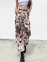 cheap -Women's Streetwear Daily Harem Pants Tie Dye Sports Khaki S M L