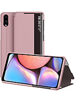 cheap -Case For Samsung Galaxy A6 A6 Plus S10 S10 Plus S10 Lite M10 A10 A50 S20 S20 Plus M80S A91 S20 Ultra A11 M11 A30S Flip Full Body Cases Solid Colored PU Leather TPU