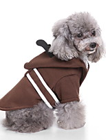 cheap -Dog Halloween Costumes Costume Shirt / T-Shirt Samurai Robe Cosplay Cute Christmas Party Dog Clothes Breathable Brown Costume Polyester S M L XL