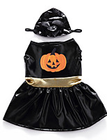 cheap -Dog Halloween Costumes Costume Dress Pumpkin Fashion Cute Christmas Party Dog Clothes Breathable Black Costume Polyester S M L XL