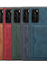 cheap -Case for Huawei Huawei P30 P30 pro P30 Lite P40 pro Wallet Shockproof Back Cover Solid Colored PU Leather