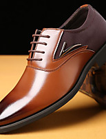 cheap -Men's Fall Business Daily Oxfords PU Non-slipping Black / Brown