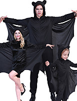 cheap -Bat Cosplay Costume Outfits Group Costume Kid's Adults' Men's Cosplay Halloween Halloween Festival / Holiday Polyester Black Men's Women's Easy Carnival Costumes / Leotard / Onesie / Leotard / Onesie