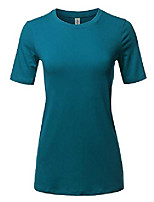 cheap -basic solid premium cotton short sleeve crew neck t shirt tee tops teal 3xl