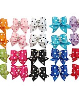 cheap -20 pcs new lovely dog cat puppy hair bow ribbon headdress hair accessory