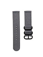 cheap -Fashion Watch Band Nylon Strap Black 3 Rings Buckle For TicWatch Pro / TicWatch S2 / TicWatch E2 TicWatch Sport Band / Classic Buckle / Business Band Nylon Wrist Strap