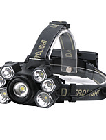 cheap -7 Led Headlamp 3*XML T6+4*XPE led Headlight Headlamps 2000 lm LED LED 7 Emitters 5 Mode Professional Durable Camping / Hiking / Caving Everyday Use Cycling / Bike Outdoor Natural White Light Source