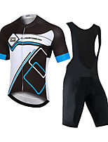 cheap -CAWANFLY Men's Short Sleeve Cycling Padded Shorts Cycling Jersey with Bib Shorts Black / White Bike Moisture Wicking Sports Mountain Bike MTB Road Bike Cycling Clothing Apparel / Expert / Racing