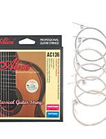 cheap -NAOMI Alice Guitar Strings AC136-N Nylon EBGDAE Single 6 Strings Guitar Parts Classical