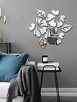 cheap -1 Piece Set Acrylic Art 3D Mirror Flower Wall Sticker DIY Home Wall Decal Decoration Sofa TV Wall Removable Wall Sticker