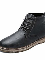 cheap -men's autumn outdoor leather lace-up high-top ankle martin boots oxford shoes (12, grey)