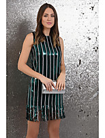 cheap -Women's Shift Dress Short Mini Dress - Sleeveless Striped Tassel Fringe Summer Sexy Party Club Slim 2020 Green S M L XL XXL