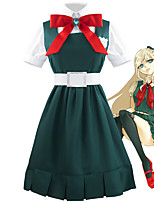cheap -Inspired by Dangan Ronpa Anime Cosplay Costumes Japanese Cosplay Suits Blouse Dress Belt For Women's / Socks / Headwear / Bow Tie
