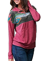 cheap -womens juniors fashion casual long sleeve 1/4 zipper aztec print sweatshirt pullover with pockets rose medium 8 10