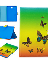 cheap -Case For Samsung Galaxy Tab A T580 T585 T590 T830 Card Holder Shockproof Pattern Full Body Cases PU Leather TPU Auto Sleep Wake Up magnetic buckle butterfly