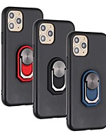 cheap -Case For Apple iPhone 11 iPhone 11 Pro iPhone 11 Pro Max Shockproof Ring Holder Back Cover Solid Colored TPU for iPhone Xs Max iPhone Xr iPhone Xs iPhone X iPhone 8 Plus iPhone 8 iPhone SE 2020