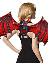 cheap -Bat Wings Cloak Kid's Adults' Men's Cosplay Halloween Halloween Festival / Holiday Nonwoven Red / Green Men's Women's Easy Carnival Costumes