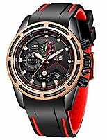 cheap -men's watch fashion sport black waterproof analog quartz watch men classic luxury business dress large dial automatic chronograph