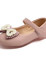 cheap -Girls' Flats Comfort / Ballerina PU Little Kids(4-7ys) / Big Kids(7years +) Walking Shoes Pink / Beige Summer / Fall