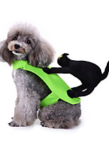 cheap -Dog Halloween Costumes Costume Shirt / T-Shirt Animal Party Cute Christmas Party Dog Clothes Breathable Green Costume Polyester S M XL