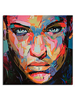 cheap -Large Size Hand Painted Abstract Figure Oil Painting On Canvas Woman Face Wall Pictures For Living Room Bedroom Home Decor Rolled Without Frame