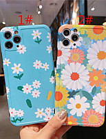 cheap -Case For Apple scene map iPhone 11 11 Pro 11 Pro Max photo frame private model series small flower pattern TPU material IMD craft fine hole fine frosted phone case