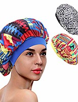 cheap -3 packs soft satin sleeping cap salon bonnet night hat hair loss chemo caps for women