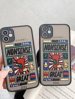 cheap -Case For Apple iPhone 6 6plus 6s 6s plus 7 7Plus iPhone 8 8Plus iPhone X iPhone XS XR XS max iPhone 11 11 Pro 11 Pro Max SE Pattern Back Cover Word Phrase TPU PC
