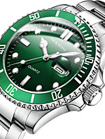 cheap -NEKTOM Men's Sport Watch Quartz Sporty Stylish Casual Water Resistant / Waterproof Stainless Steel Silver Analog - Digital - White+Blue White / Green Black / White / Japanese