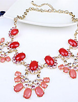 cheap -Women's Resin Choker Necklace Classic Flower Fashion Alloy Red 45 cm Necklace Jewelry 1pc For Street Festival