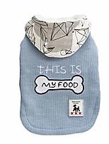 cheap -pet dog hoodies puppy dog cotton coat autumn winter two legges outfit(c blue)