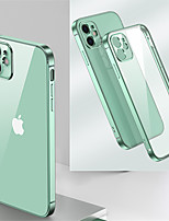 cheap -Case for Apple iPhone 11 Shockproof Plating Back Cover Transparent TPU