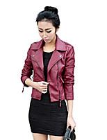 cheap -getuback vintage women's slim biker motorcycle pu leather zipper jacket punk rock chinese xxl wine