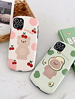 cheap -Case For Apple iPhone 7 8 X XS XR XS max  11 11 Pro 11 Pro Max Pattern Back Cover Word Phrase Cartoon TPU Embossed cute avocado bear