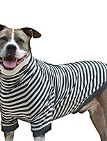 cheap -big dog stripe shirt pullover full belly coverage (large)