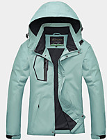 cheap -Women's Hiking Windbreaker Winter Outdoor Patchwork Thermal Warm Waterproof Windproof Breathable Jacket Fishing Climbing Camping / Hiking / Caving Black / Green / Quick Dry / Quick Dry