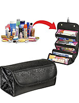 cheap -Traveling Hanging Cosmetic Bag Women Zipper Case Letter Make Up Makeup Bags Necessaries Storage Organizer Toilet Bag