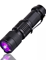 cheap -UV led mini flashlight LED Flashlights / Torch Waterproof 1200 lm LED LED 1 Emitters 1 Mode Waterproof Portable Camping / Hiking / Caving Everyday Use Fishing Outdoor UV Light Source Color Black