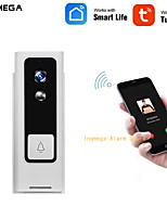 cheap -INQMEGA Tuya Smart Life Wireless WiFi Video Intercom Doorbell 720P Phone Call Door Bell Home Security Night Vision Camera