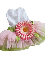 cheap -dog gauze tutu dress skirt pet dog cat princess clothes bowknot dress