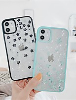 cheap -Case For Apple iPhone SE 2020 iPhone 11 Pro Max XS Max XR X 7 8 Plus 6 6s Plus Transparent Pattern Back Cover Glitter Shine Flower TPU