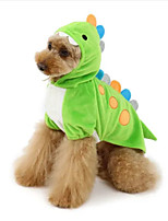 cheap -Dog Cat Halloween Costumes Costume Animal Cosplay Party Halloween Dog Clothes Green Costume Polyester XS S M L XL