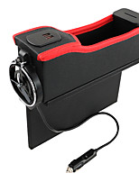 cheap -6910 Vehicle Storage Box USB With Charging Digital Display Storage Box Multi-Function Slit Water Cup Holder Automobile Leather Main driver's seat