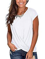 cheap -women's long sleeve winter tops  color block sweatshirts cute twist t-shirts green