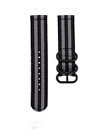 cheap -Fashion Watch Band Nylon Strap Black 3 Rings Buckle For Garmin Active / Garmin vivoactive4 Garmin Sport Band / Classic Buckle Nylon Wrist Strap