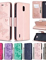 cheap -Case For Nokia 1.3 Nokia 2.3 Nokia 5.3 Wallet Card Holder with Stand Full Body Cases Butterfly PU Leather TPU for Nokia 3.2 Nokia 7.2 Nokia 2.2 Nokia 4.2 Nokia 1 Plus