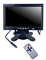 cheap -7 inch Car Monitor IPS Display Cameras Reverse Image Flip 2 Channel Input AV1/AV2 Security Monitor Paking System