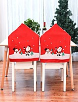 cheap -Christmas Chair Covers Set of 2, Santa Chair Back Suit Slipcovers for Home Kitchen Dining Room Holiday Party Décor