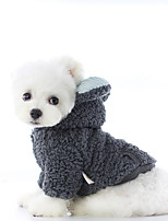 cheap -Dog Coat Color Block Casual / Daily Cute Casual / Daily Winter Dog Clothes Breathable White Blue Costume Polyster XS S M L XL