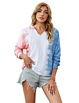 cheap -Women's Daily Pullover Hoodie Sweatshirt Tie Dye Casual Hoodies Sweatshirts  Loose White Blue Purple